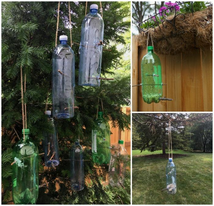 plastic bottle recycle bird feeder craft. Black Bedroom Furniture Sets. Home Design Ideas